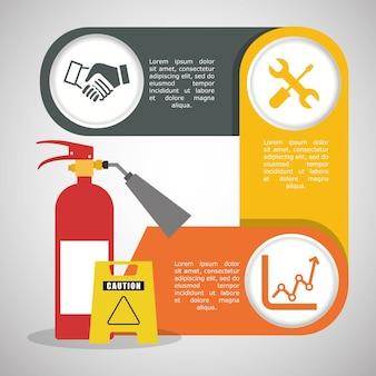 Infographic industrieel veiligheidsontwerp