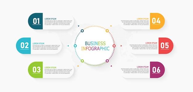 Infographic kan worden gebruikt voor proces, presentaties, lay-out, banner, infografiek
