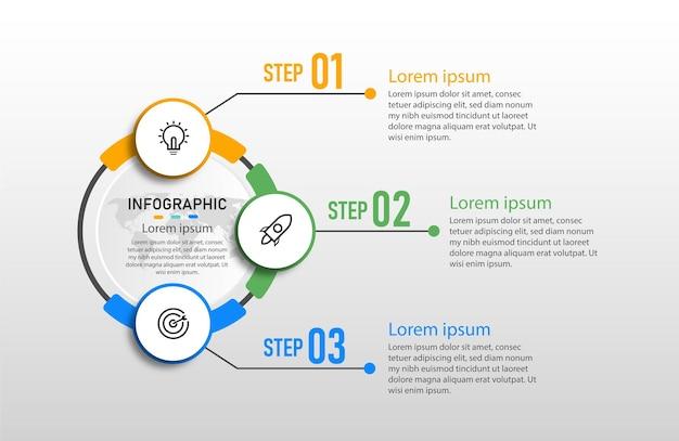 Infographic labelsjabloon bedrijfsconcept