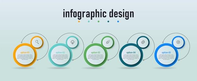 Infographic labelsjabloon bedrijfsconceptontwerp