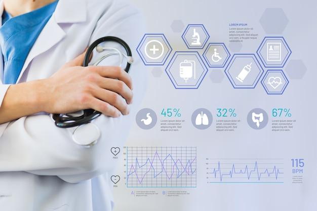 Infographic medisch met afbeelding