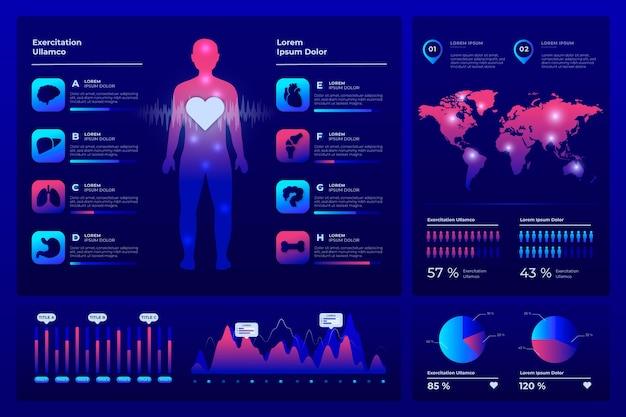 Infographic medische gezondheidszorg