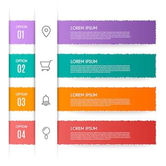 Infographic met 4 opties, stappen of processen