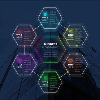 Infographic met foto voor het bedrijfsleven