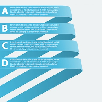 Infographic met gebogen linten.