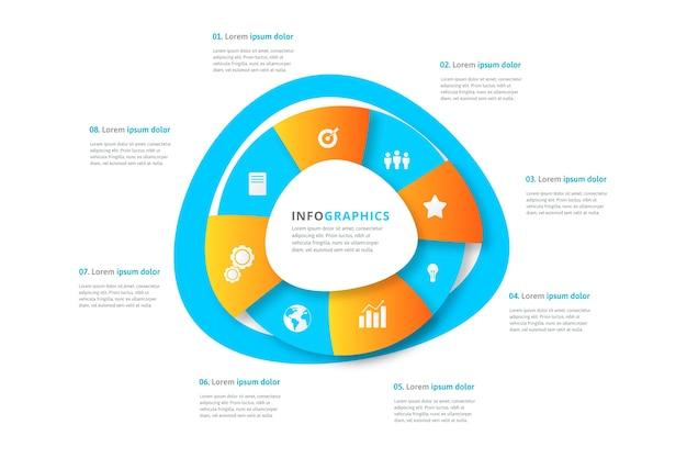 Infographic met gradiënt abstracte vorm en details