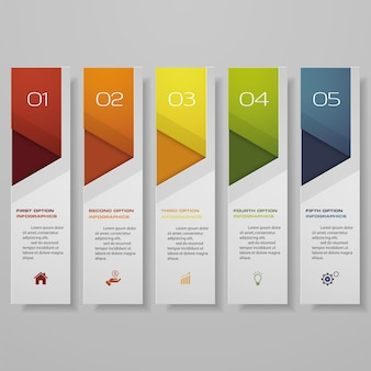 Infographic met horizontale banners