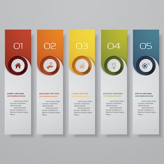 Infographic met hotizontal banners