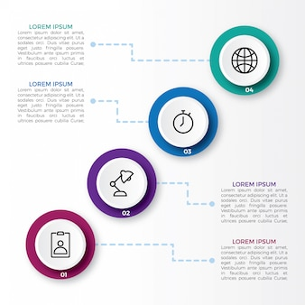 Infographic met stappen en optie