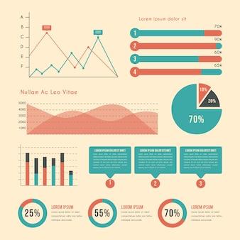 Infographic met vintage kleuren