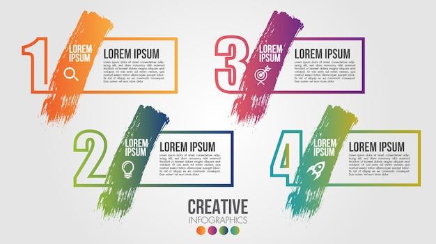 Infographic moderne tijdlijn vector ontwerpsjabloon voor zaken met stappen of opties illustreren
