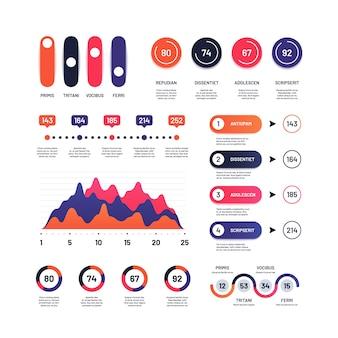 Infographic. multifunctionele economische grafieken marketing grafieken proces tabel zakelijke tijdlijn en stroomdiagram infographics project