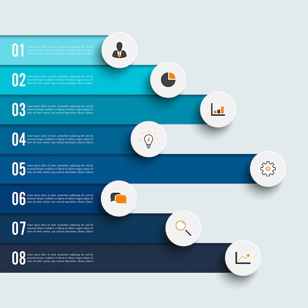 Infographic ontwerp en marketing