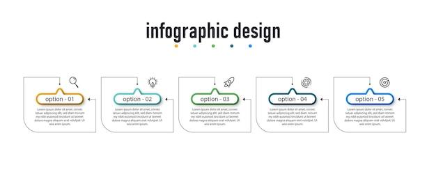 Infographic ontwerp label sjabloon bedrijfsconcept