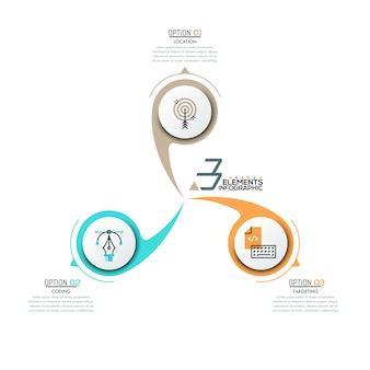 Infographic ontwerp lay-out
