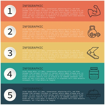 Infographic ontwerp monsters op tekst