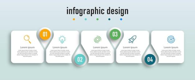 Infographic ontwerp presentatiesjabloon