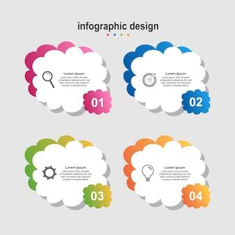 Infographic ontwerp wolk modern design bedrijf