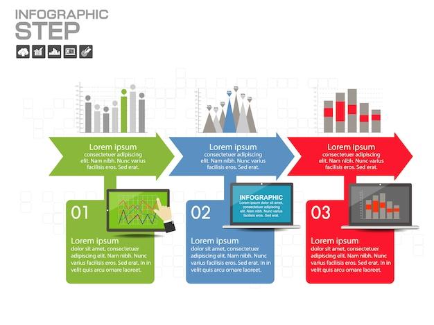 Infographic ontwerpsjabloon met pictogrammen en opties