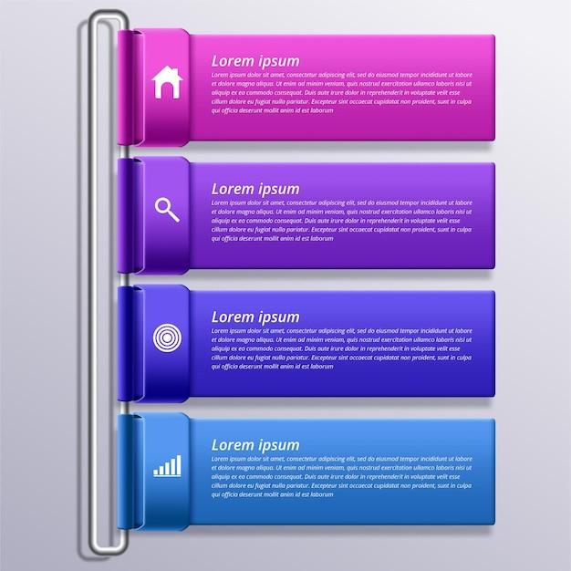 Infographic ontwerpsjabloon met pictogrammen