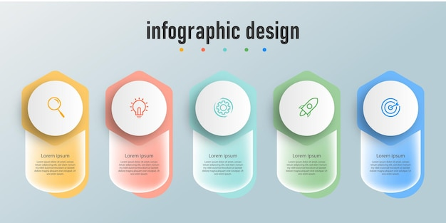 Infographic ontwerpsjabloon transparant glas