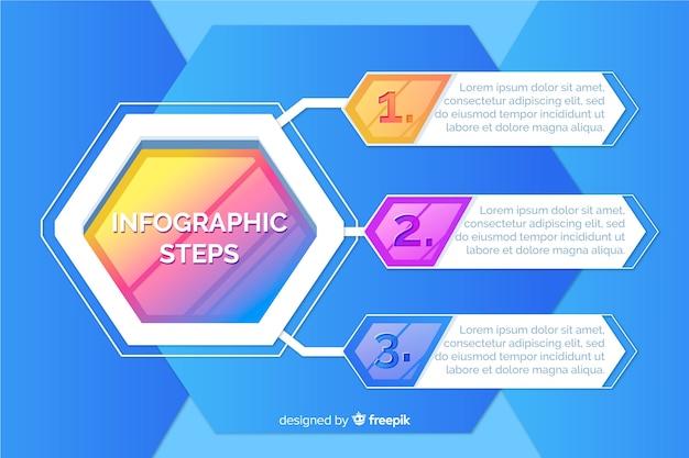 Infographic ontwikkelingsstappen sjabloon