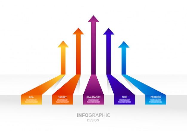 Infographic pijlen