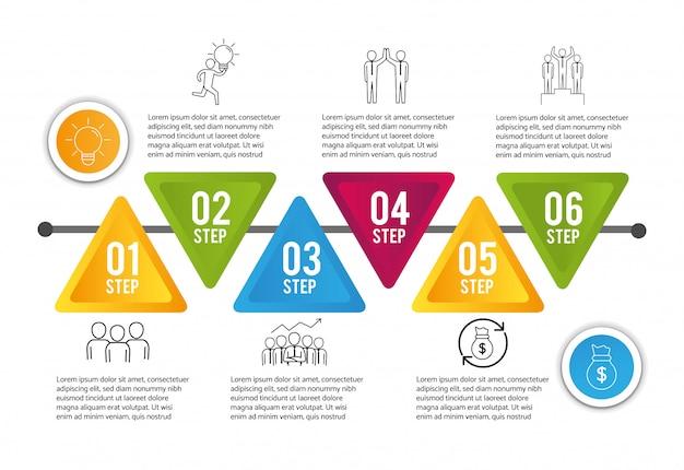 Infographic proccess diagramgegevensinformatie