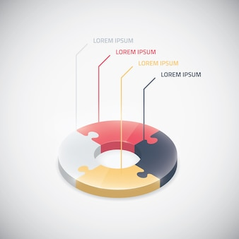 Infographic puzzelstuk vector puzzel business cirkel element