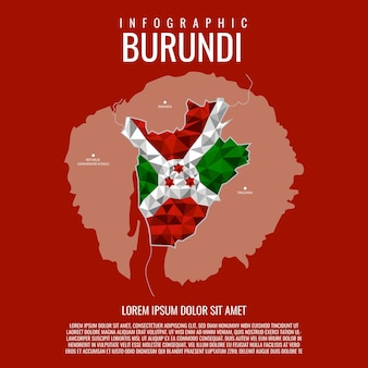 Infographic republiek burundi