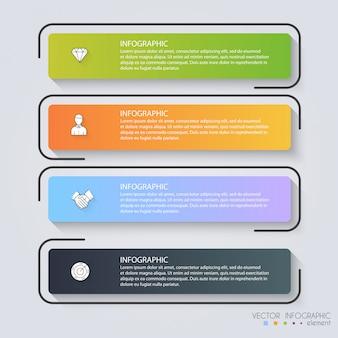 Infographic sjablonen voor het bedrijfsleven.