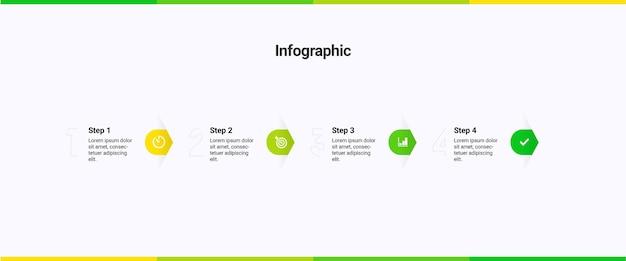 Infographic sjabloon 4 stappen opties diensten
