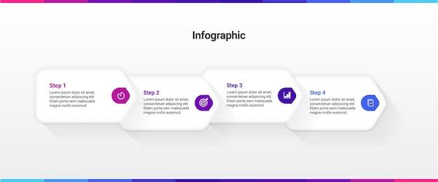 Infographic sjabloon 5 stappen opties diensten