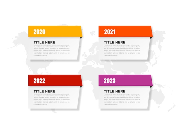 Infographic sjabloon business marketing met jaren