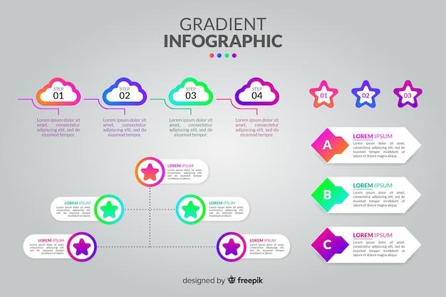 Infographic sjabloon in verloopstijl