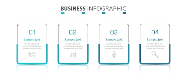 Infographic-sjabloon met 4 opties voor bedrijven
