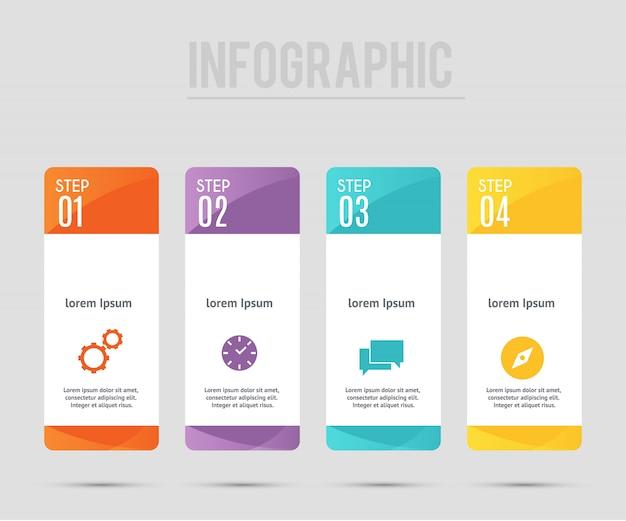 Infographic sjabloon met 4 opties