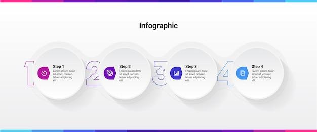 Infographic sjabloon met 4 stappen of services