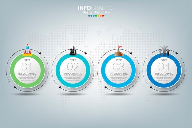Infographic sjabloon met digitale marketing iconen concept.
