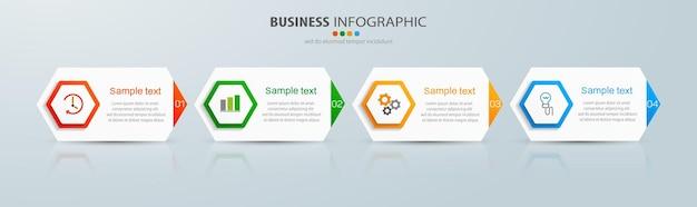 Infographic sjabloon met opties of stappen