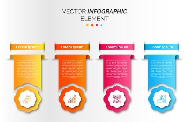 Infographic sjabloon met pictogram