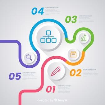 Infographic sjabloon met tijdlijn concept