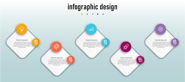 Infographic-sjabloon met vier stappen premium