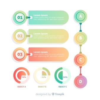 Infographic sjabloon platte verloopontwerp