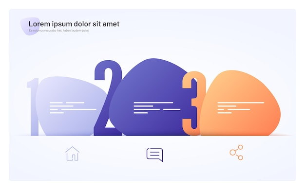 Infographic sjabloon samengesteld uit drie abstracte vormen.