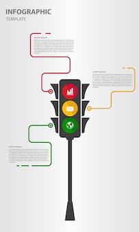 Infographic-sjabloon verkeerslichten stijlen