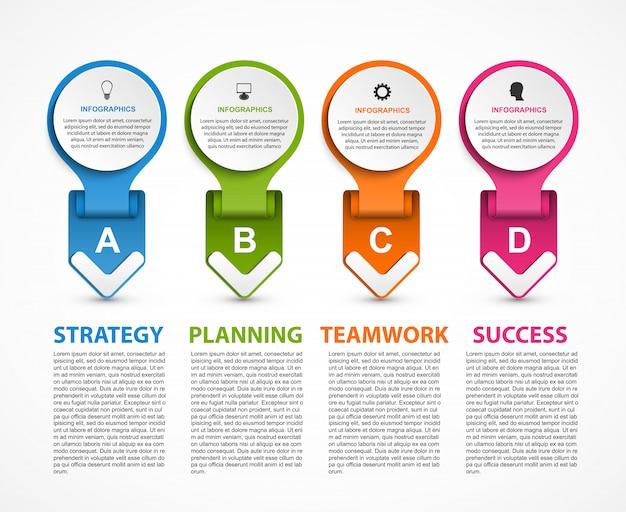 Infographic-sjabloon voor bedrijfspresentaties.