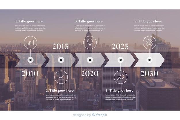 Infographic sjabloon voor het bedrijfsleven met foto