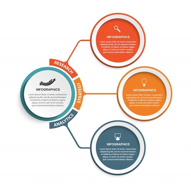 Infographic sjabloon voor informatie