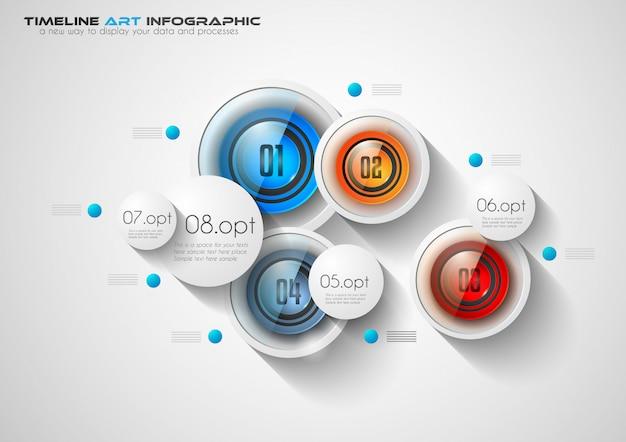 Infographic-sjabloon voor moderne datavisualisatie en rangschikking